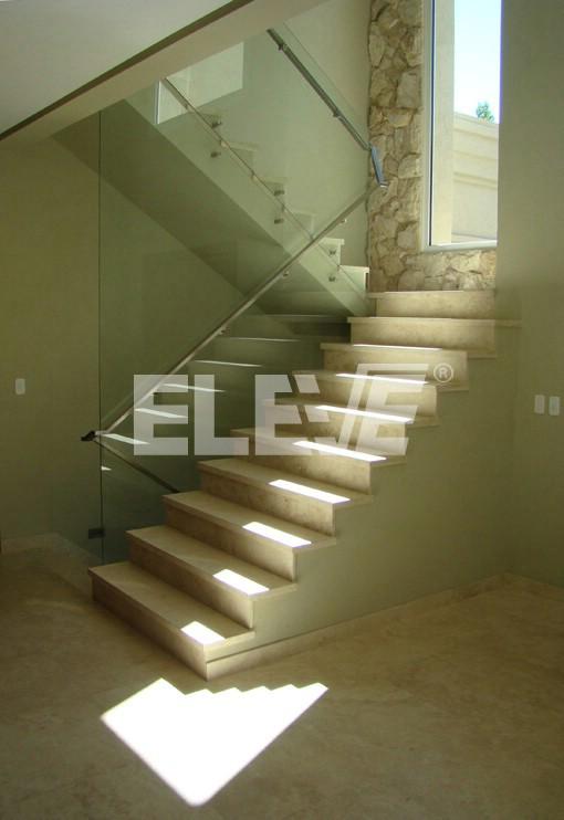 Baranda pared de vidrio templado de 10mm ayres del pilar - Escaleras con barandilla de cristal ...