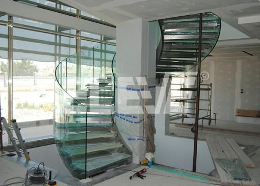 barandas de vidrio para escaleras barandas de vidrio templado y acero