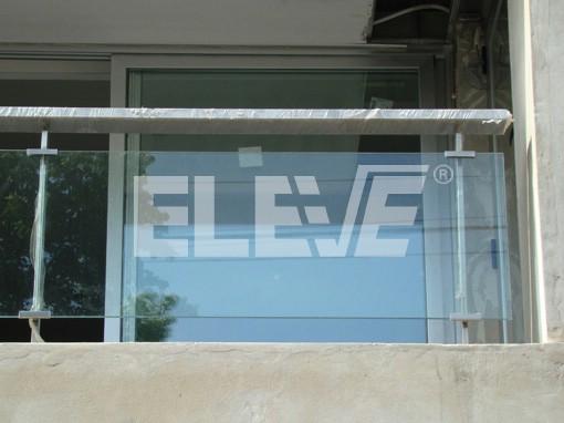 Baranda de balc n exterior total transparencia - Barandillas para terrazas exteriores ...