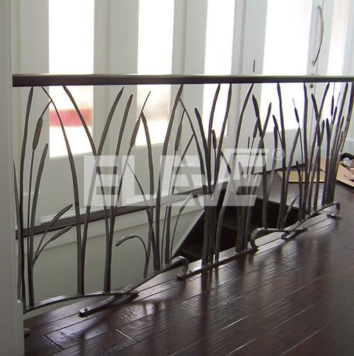Original y artesanal baranda de hierro de dise o org nico - Barandas de hierro modernas ...