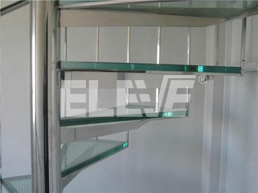 Vista inferior de escalera caracol de vidrio estructura - Estructura caracol ...