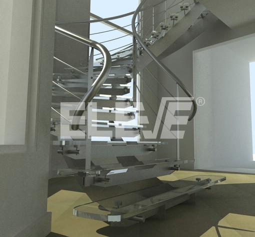 detalle de escalera helicoidal de doble eje estructura de acero inoxidable o hierro