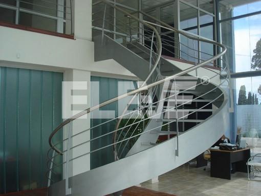 escalera helicoidal con pasamano de acero inoxidable estructura metlica ue