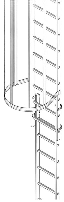 Escalera vertical tipo gato modular de tramos apilables for Escaleras verticales