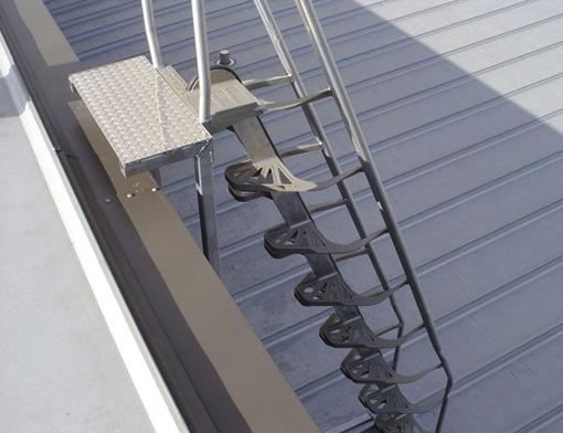 Escalera de trabajo semi vertical o semi gato tipo - Escaleras metalicas plegables ...
