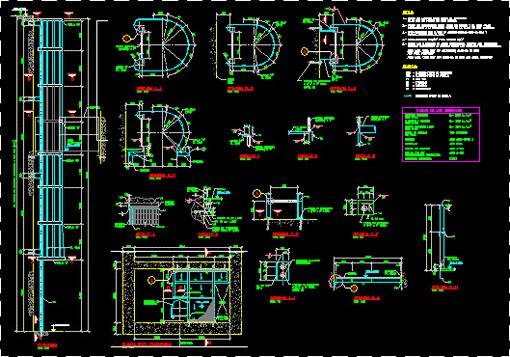 Plano de prototipo de escalera gato con guarda hombre con medidas - Dimensiones escalera caracol ...