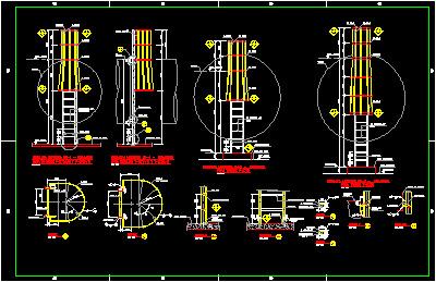 Proyecto de escalera vertical con protecci n guardahombre - Escalera de gato con proteccion ...