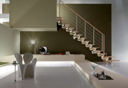 Escaleras marca rintal l nea knock design dise o italiano for Diseno de escaleras interiores minimalistas