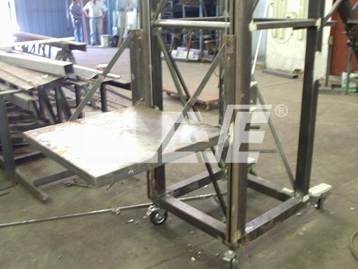 Accesorio de escaleras de almacen con plataforma m vil - Escaleras para almacen ...