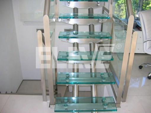 Imagen de escalera en vidrio y acero inoxidable detalles - Escaleras de acero y cristal ...