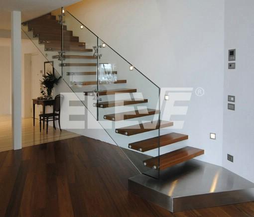 Fotograf a de escalera de vidrio especial primer pelda o tipo plataforma - Escaleras de cristal y madera ...
