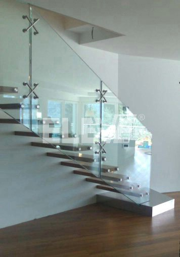 escalera de vidrio de diseo especial de un tramo recto ue