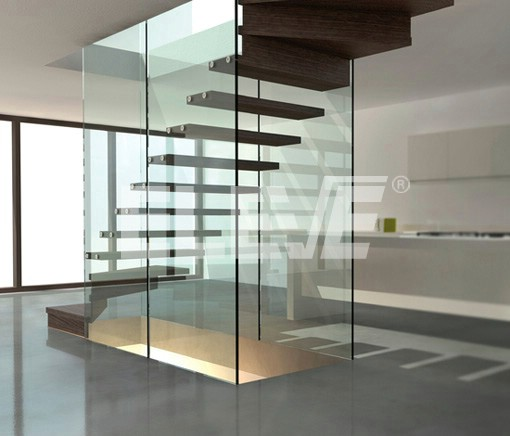 Fotos de escaleras escalera de madera para interiores for Escaleras minimalistas interiores