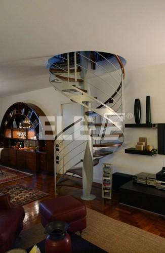 Escalera caracol de acero inoxidable con doble cinta - Escaleras semi caracol ...