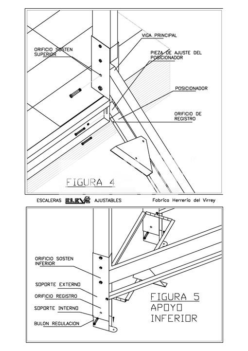 Detalle de armado escalera ajustable recta pictures - Dimensiones escalera de caracol ...