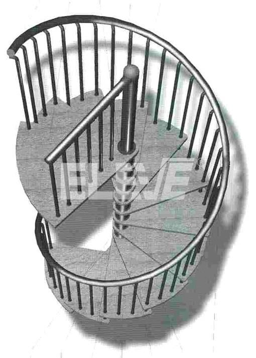 Esquema de posicionamiento de escalones y descanso en for Escalera de metal con descanso
