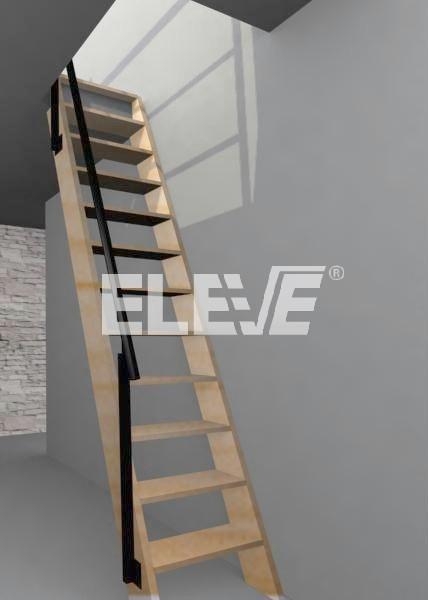 Casas prefabricadas madera escaleras plegables para - Escaleras para altillos ...