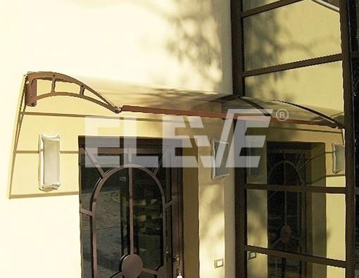 Marquesina curva con estructura de acero inoxidable - Marquesinas para puertas ikea ...