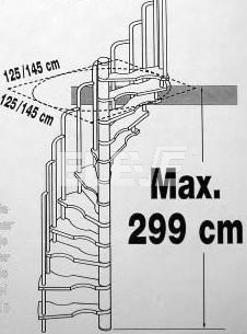 M ximos y m nimos a la hora de pensar en una escalera for Como trazar una escalera de caracol de concreto