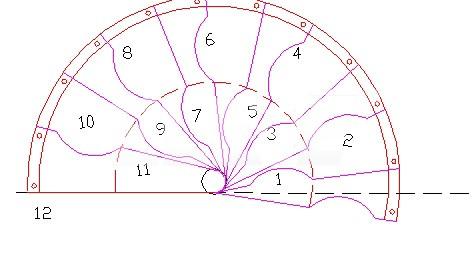 Proyecci n de pelda os de pasos alternados para escalera medio caracol - Medidas escaleras de caracol ...
