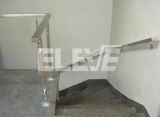 Pasamanos de acero inoxidable baranda en escalera - Pasamanos de escalera ...