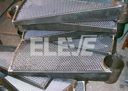 peldaos modulares para escalones caracol fabricados con laterales de hierro