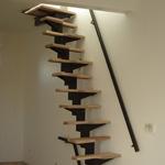 Escaleras de pasos alternados en kit pie derecho auto - Escaleras para espacios pequenos ...