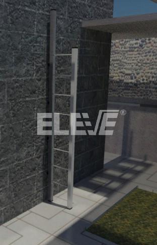 Escalera rebatible en posici n de uso para ubicar donde for Escaleras en poco espacio