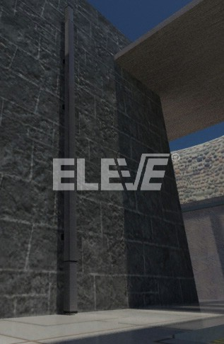 Escalera rebatible en posici n de guarda para interior o - Escaleras metalicas plegables ...