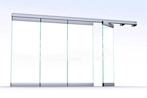 Cerramiento de puertas de vidrio puertas de abrir for Puertas plegables de cristal