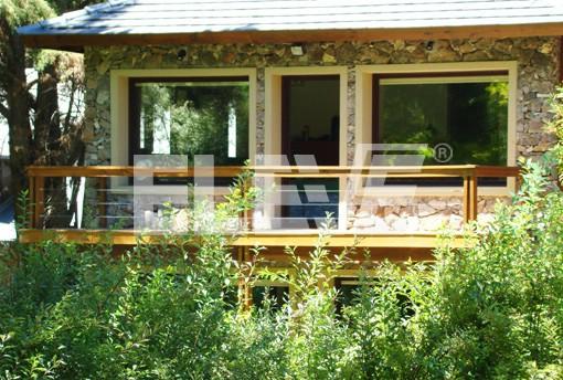 Madera y tensores en baranda de balc n terraza - Barandas de terrazas ...