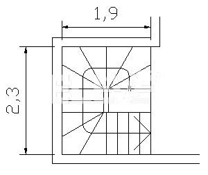 Esquema en planta escalera en ojo central for Escaleras en planta
